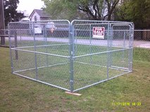 New 10' x 10' x 6' high portable dog kennel in League City, Texas