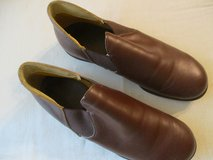 Mens 7.5 leather hard sole slippers in Bartlett, Illinois