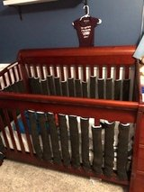 Baby crib with changing table with mattress in Spring, Texas