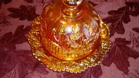 imperial marigold carnival glass butter dish in Fort Lewis, Washington