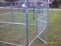 New 10' x 10' x 6' high portable chain link dog kennel in League City, Texas
