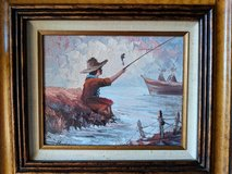 Boy Fishing Oil Painting in Westmont, Illinois