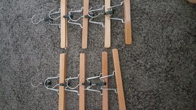 Wooden hangers for pants from Ikea in Plainfield, Illinois