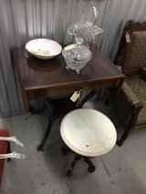 Antique Desk and Marble Top Stool in Camp Lejeune, North Carolina