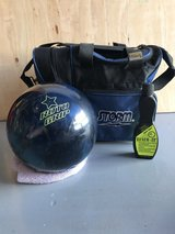 Bowling ball and bag in Oceanside, California