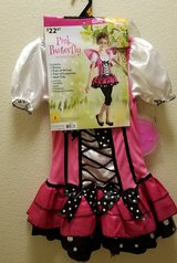 Pink Butterfly Costume (size 8-10) in Fort Irwin, California