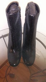 Black Sequin Boots Size 7 (New) in Palatine, Illinois