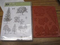 Stampin up Lovely as a Tree clear mount set- unused set of 6 in Glendale Heights, Illinois