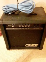 crate guitar practice amp w/ guitar cord in Clarksville, Tennessee