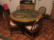 Wood/stone Table and chairs in Hinesville, Georgia