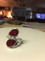 mozambique garnet ring (Size 9) Sterling silver in Fort Leonard Wood, Missouri