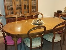 Thomasville solid Pecan dining table and china cabinet in Fairfax, Virginia