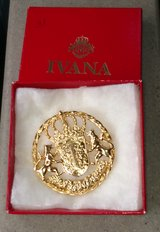 Ivana Lions Crest Brooch / Pendant in Chicago, Illinois