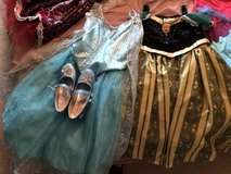 Costumes - Deluxe Ana and Elsa w/size 12 matching shoes - Disneyland Purchases in Glendale Heights, Illinois
