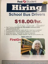School bus driver in Plainfield, Illinois