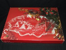Mikasa Christmas Story Oval Canape Crystal Large Serving Tray NEW in Chicago, Illinois