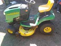 John deere l100 riding lawn mower 42 inch deck in Beaufort, South Carolina