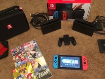 Nintendo Switch w/ 4 games, travel case, and extra TV dock in Alamogordo, New Mexico