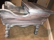 Solid barn wood style side table in Chicago, Illinois