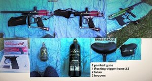 Paintball guns (2) with accessories in Fort Polk, Louisiana