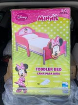 Minnie Mouse Toddler bed set in Baytown, Texas