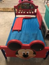 Mickey Mouse toddler bed set in Baytown, Texas