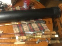 Fishing package including the Phantom by Plano extendable hard plastic carrying case, like new c... in Aurora, Illinois