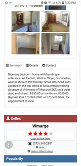 One bedroom for rent-Rolla, Mo in Rolla, Missouri