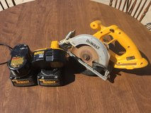 Dewalt Circular Saw, Two 18V Batteries, Two Battery Chargers in The Woodlands, Texas