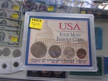USA Four Most Famous Coins Set in Fort Riley, Kansas