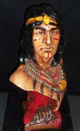 "ANTIQUE CIGAR STORE INDIAN HIAWATHA BUST 20"" in Tinley Park, Illinois"