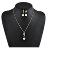 Elegant Jewelry Set 18 K Gold Plated Color Diamond Crystal Party Jewelry Necklace And Earrings W... in Fairfax, Virginia
