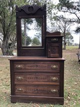Beautiful antique dresser with mirror in Moody AFB, Georgia