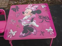 MIINNIE MOUSE  KIDS FOLDING TABLE & CHAIRS in Bartlett, Illinois