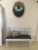 Rustic Bench in Yucca Valley, California