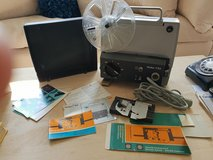Dual Voltage Film projector 8mm / super 8mm film, Rollei P83 + splicer tool bauer in The Woodlands, Texas