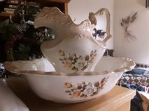 Vintage Pitcher, Bowl with Table/Stand in Travis AFB, California