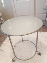 Modern glass side/ coffee table in Fort Carson, Colorado