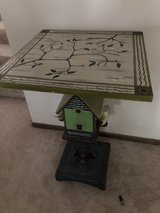 Side Table with Birdhouse / Bird Decor in Schaumburg, Illinois