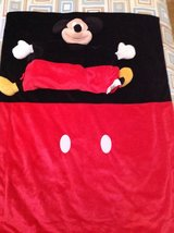 Disney Mickey Mouse Plush Pillow and Throw Blanket- Red-Black in Stuttgart, GE