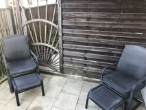2 Outdoor chairs and 2 stools in Stuttgart, GE