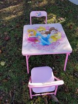 Disney Princess table and 2 chairs. in Macon, Georgia