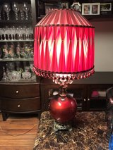"""Red Lamp 38"""" Tall in Fort Knox, Kentucky"""