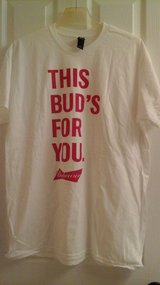 Men's XL Bud/Budweiser Beer (NEW)  T Shirt in Glendale Heights, Illinois