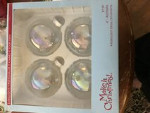 Clear iridescent glass ornaments in Kingwood, Texas