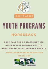Pony-Pals age 3-7 Riding Program Jul 30 for 5 Weeks in Fort Campbell, Kentucky