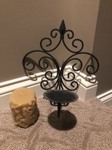 Metal candle sconce set in Chicago, Illinois