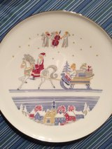 porcelain Christmas plates in Ramstein, Germany