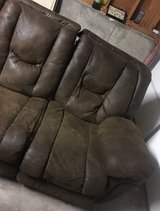 brown couch with recliners on both ends in Fort Carson, Colorado