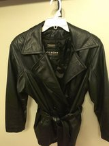 NWOT WOMEN'S BLACK WILSON'S LEATHER JACKET, Removable Thinsulate Lined Coat, Belt in Chicago, Illinois